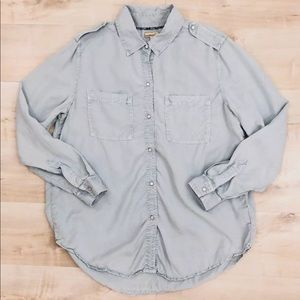 Anthropologie Holding Horses Button Down Shirt Top